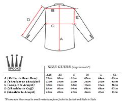 Jacket Measurements Chart Size Charts Spooks