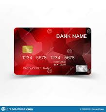 Free Credit Card Designs Realistic Detailed Red Credit Card Design Stock Vector