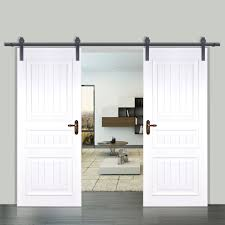 6 10 12ft rustic black double sliding barn door hardware with closet and gp4 on bar doors 1600x1600px