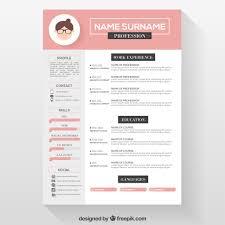 Professional Cv Format Download 011 Pink Resume Template 1024x1024 Download Unique A Ideas
