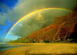 Beautiful Rainbow Nature Mountain Desicomments Com