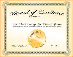 Free Award Certificate Templates For Students Award Format Under Fontanacountryinn Com