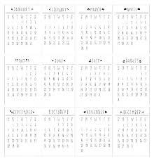 Small Desk Calendar 2017 Terbuka