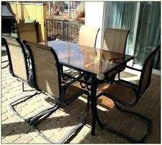 belleville 7 piece patio dining set bay park sling hampton model fcs80198st belleville 7 piece patio