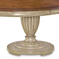 provenance wood round dining table in antique linen