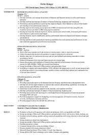 Data Visualization Resume Examples Financial Data Analyst Resume Samples Velvet Jobs 12