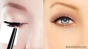 makeup trick tutorial cat eyeliner for hooded eyes
