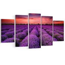 shop red sunset over lavender field extra large wall art landscape on sale free shipping today overstock 12302876 on lavender sunset wall art with shop red sunset over lavender field extra large wall art landscape