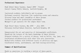 Lecturer Resume Results Resume