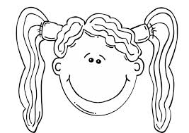 Small Picture Coloring page girls face img 17089