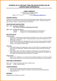 Best Ideas Of Part Time Job Resumes Examples Sidemcicek Resume For