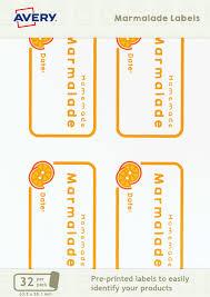 Avery Jar Labels Marmalade Jar Labels