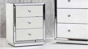 vegas white glass mirrored bedside tables. Alison Mirrored Bedside Table Vegas White Glass Tables B