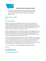 donation request letter school sample donation request letter
