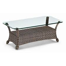 full size of glass top wicker coffee table canyon finish fully welded aluminum frame resin in