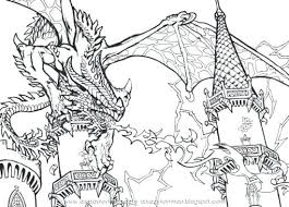 Flying Dragon Coloring Pages Printable Scary Color Page Top Free