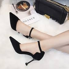 <b>2019</b> summer high heel <b>stiletto pointed side</b> Korean version of the ...
