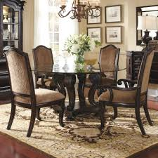 Round Glass Tables For Kitchen Round Glass Top Dining Table Sets