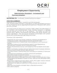 Admin Job Profile Resume Administrative Admin Responsibilities Resume Manager Job
