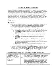 dialectical journal template cyberuse dialectical journal template