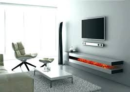 what to put under wall mounted tv hanging