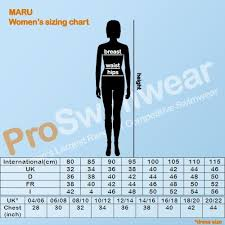 Maru Womens Size Chart