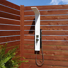 carrollton two jet outdoor shower panel with hand shower