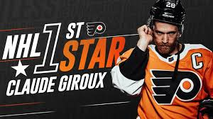 flyers nhl giroux named nhl 1st star of the week