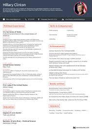 Hillary Clinton Sample Resume Interesting Pinterest Online