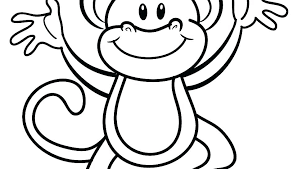 Baby Monkey Coloring Pages Pictures Cartoon Monkey Coloring Pages