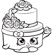 Shopkins Season 7 Wedding Cake Shopkins Coloring Pages Shopkins