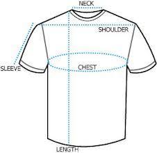 Round Neck T Shirt Size Chart Size Chart T Shirts