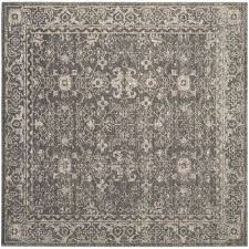 evoke gray ivory 7 ft x 7 ft square area rug
