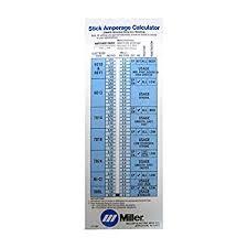Stick Welding Chart Miller 171087 Calculator Stick Welding Amazon Com