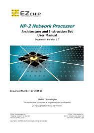 Ezchip Np 2 User Manual Manualzz Com