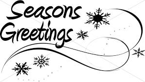 seasons greetings clip art black and white. Fine Art Seasons Greetings Page Accent And Clip Art Black White H
