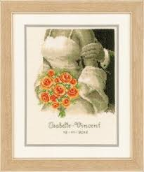 Vervaco Cross Stitch Charts Wedding Bouquet Cross Stitch Kit