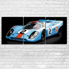 3 pieces super racing car paintings hd prints sports car pictures canvas posters wall art framework