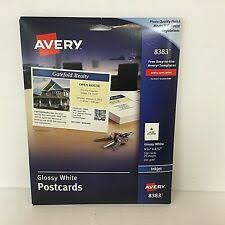 Avery 8383 Avery 8383 Ink Jet Glossy Postcards 100 Count For Sale