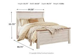 Willowton Queen Panel Bed   Ashley Furniture HomeStore