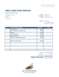 Lawn Care Invoice Examples And Lawn Service Invoice