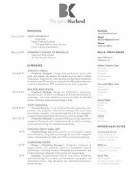 The Portfolio Resume Of Ben Kurland Resume The Portfolio