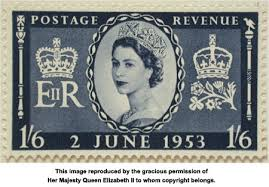 stamps to mark a coronation the queen s own final essay 1953 coronation stamp 1 shilling and six pence approved 31