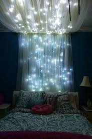 room decor with fairy lights