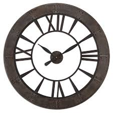 full image for terrific 40 inch wall clock 103 40 inch round wall clock uttermost ronan