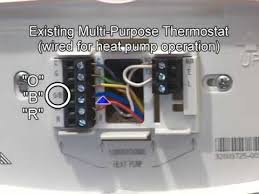 heat pump wiring & mechanical settings youtube 5 Wire Thermostat Wiring Color Code heat pump wiring & mechanical settings House Thermostat Wiring Diagrams