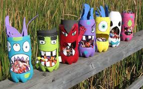 Here Set Great Halloween Crafts Made Recycled Materials