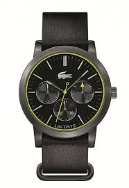 lacoste metro 2010876 black leather strap mens watch men s lacoste metro black leather strap watch 2010876