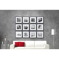 pinnacle gallery perfect 8 in x 8 in black collage picture frame set