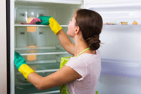cleaning the refrigerator. refresh the fridge cleaning refrigerator c